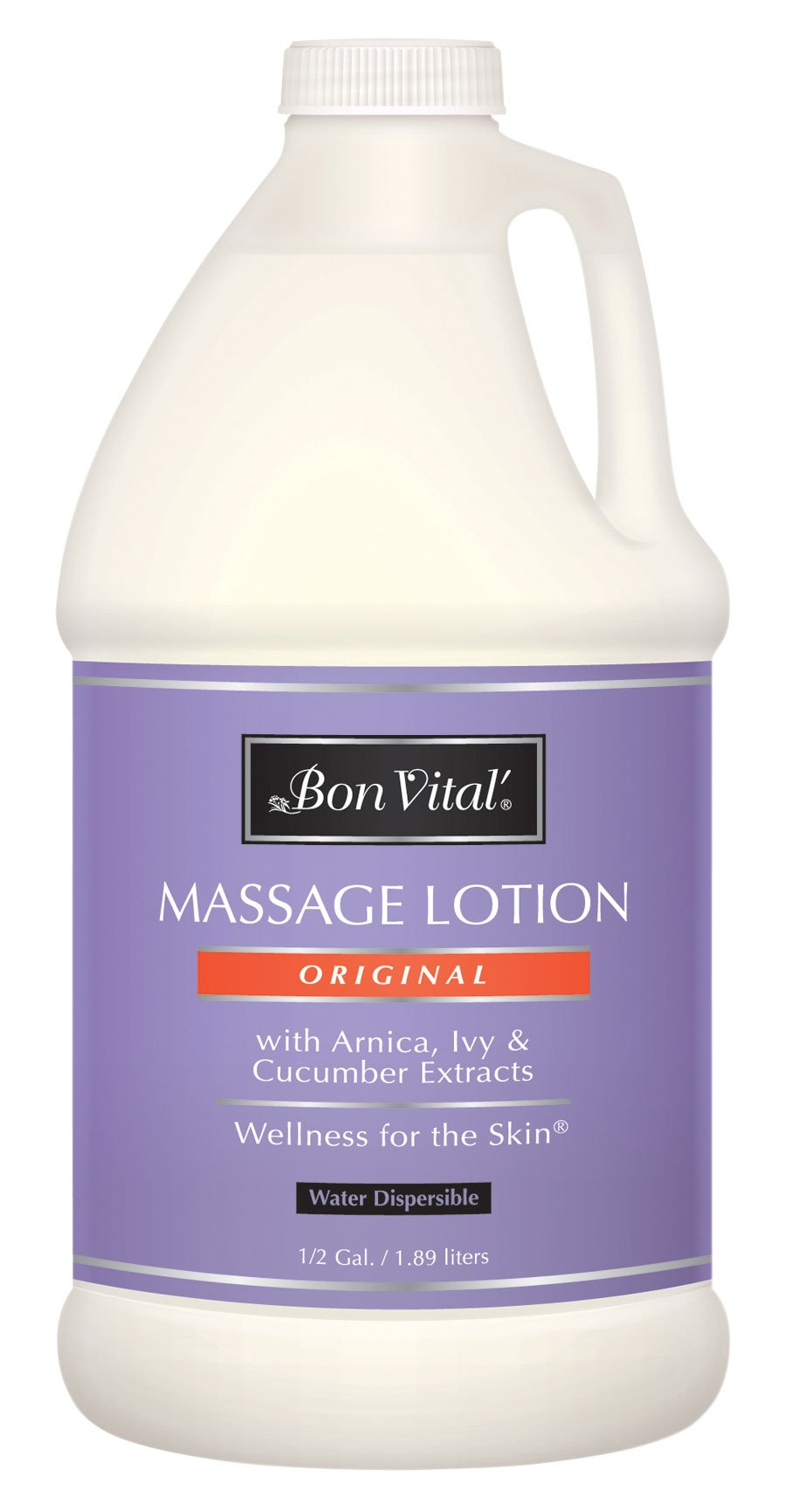 Bon Vital' Original Massage Lotion for a Versatile Massage Foundation to Relax Sore Muscles & Repair Dry Skin, Lightweight, Non-Greasy Formula to Moisturize and Repair Dry Skin, 1/2 Gallon Bottle