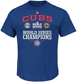 e389a2909 VF Chicago Cubs MLB Mens Majestic 2016 World Series Champions Headline News  Shirt Royal Size 3XL