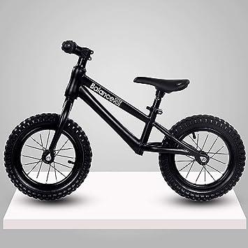 Bicicleta de Equilibrio for Niños Sin Pedal Mini Bicicleta Bicicleta con Marco de Acero Al Carbono Asiento Ajustable for Bebés y Niños Actividades Al Aire Libre En Interiores Edades 3-6: Amazon.es: Juguetes
