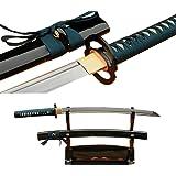 Lyuesword Japanese Handmade Folded Steel Wakizashi Sword Real Sharp