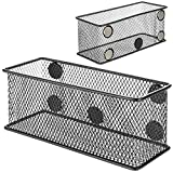 MyGift Wire Mesh Magnetic Storage Baskets, Office