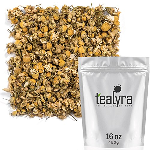 Tealyra - Egyptian Chamomile Tea - Pure Herbal Tea - Natural Bedtime Tea - Caffeine-Free - Relaxing Herbal Remedy - Anxiety and Stress Relief - Organically Grown - 450g (16-ounce)