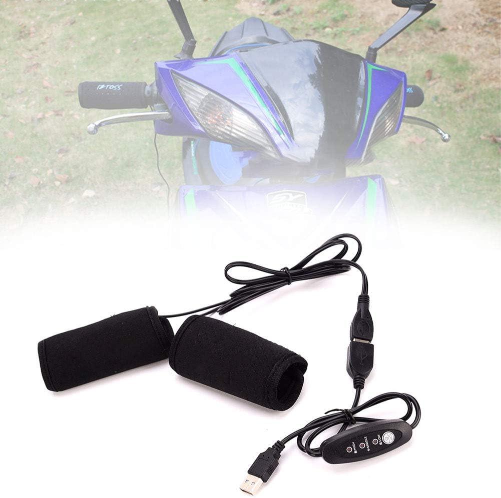 per Moto ATV Scooter Presa USB riscaldate Maniche per Manubrio 22-30 mm HONGY 1 o 2 Paia di manopole riscaldate per Moto con Interruttore di Controllo della Temperatura