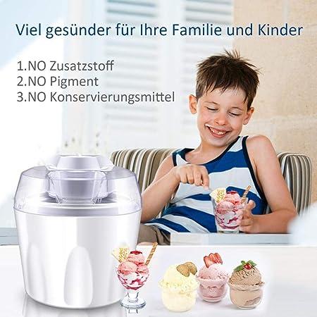 Máquina para hacer helado hecho en casa helado o sorbete de yogur ...