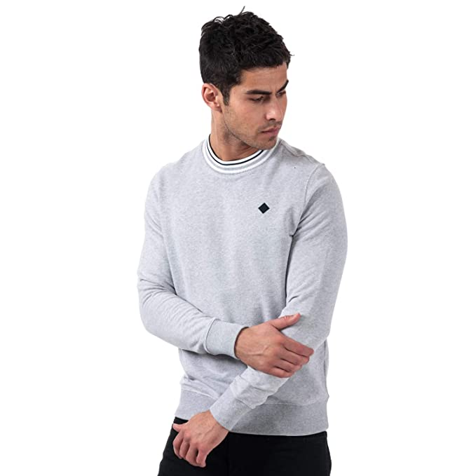 92cea53666d Henri Lloyd Mens Oaksey Crew Sweat in Grey: Henri Lloyd: Amazon.co ...
