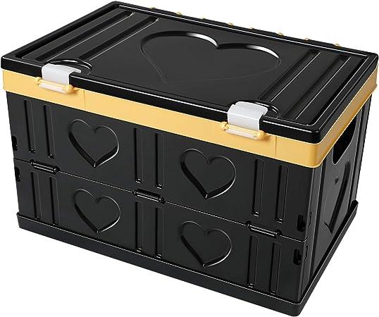 Extsud Caja de Almacenamiento Plegable con Tapa (30 litros) Plegable para Armario, hogar, Coche, organización de Viaje | Organizadores de plástico Resistentes, Asas de Transporte | Ahorro de Espacio: Amazon.es: Hogar