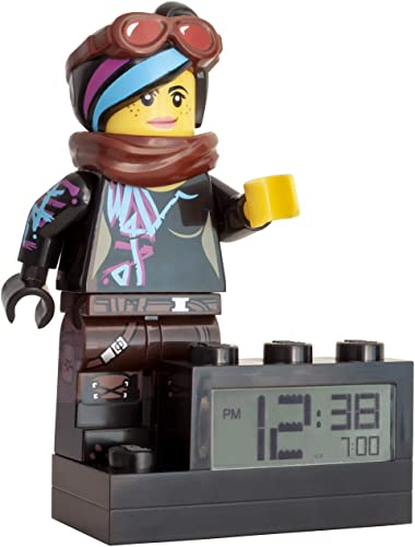 ClicTime 9003974 Wyldstyle Kids Minifigure Light Up Colour Plastic 9.5 inches Tall LCD Display boy Girl Official Lego Movie 2 Alarm Clock