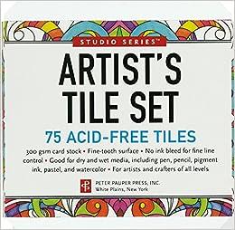 Studio Series Artist's Tiles: White (75 pack): Peter Pauper