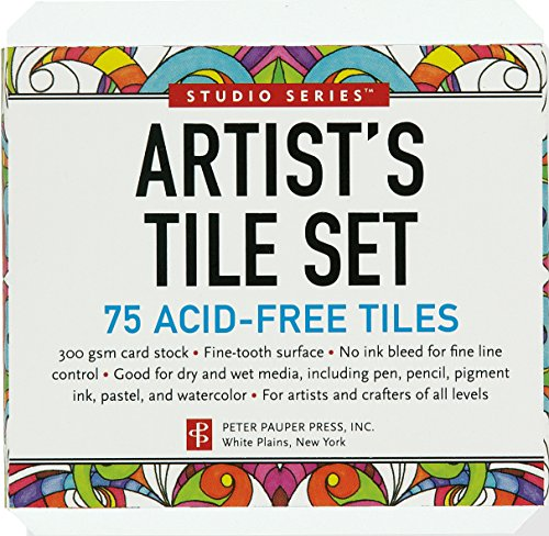 Studio Series Artist#039s Tiles: White 75 pack