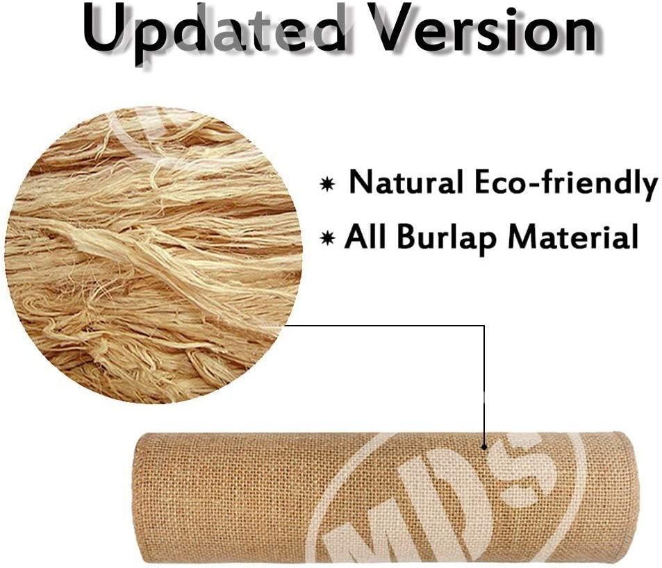 Lavender mds Pack of 1 Wedding 12 x 108 inch Burlap Table Runner Natural Jute Country Vintage for Wedding Banquet Decoration Natural Jute Burlap