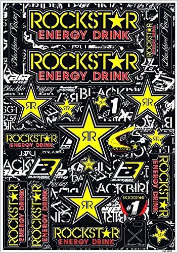 Mx Enduro Aufkleber Sponsoren Sticker Vorgestanzt Rockstar Energy Auto