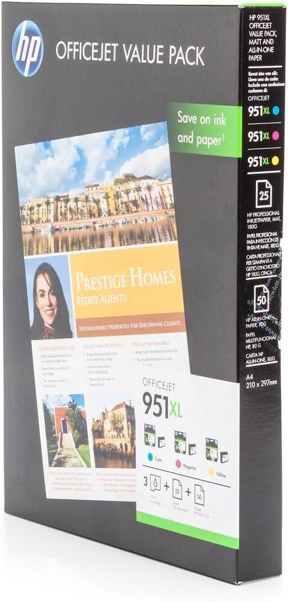 Original Tinte Passend Für Hp Officejet Pro 8620 E All In One Hp 951xl Cr712ae 3x Premium Drucker Patrone Cyan Magenta Gelb 3x1 500 Seiten Bürobedarf Schreibwaren