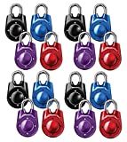 Master Lock 1500iD Speed Dial Combination Lock, Assorted Colors, 16-Pack