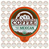 Mexican Organic SWP Half Caf Coffee Cups, 72 ct. of Single Serve Capsules for Keurig K-Cup Brewers, Fresh Roasted Coffee LLC.