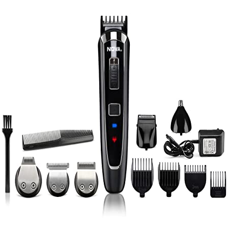 Nova All in One Head to Toe Digital Display Multi Grooming Kit (Black) Men's Grooming Sets & Kits at amazon