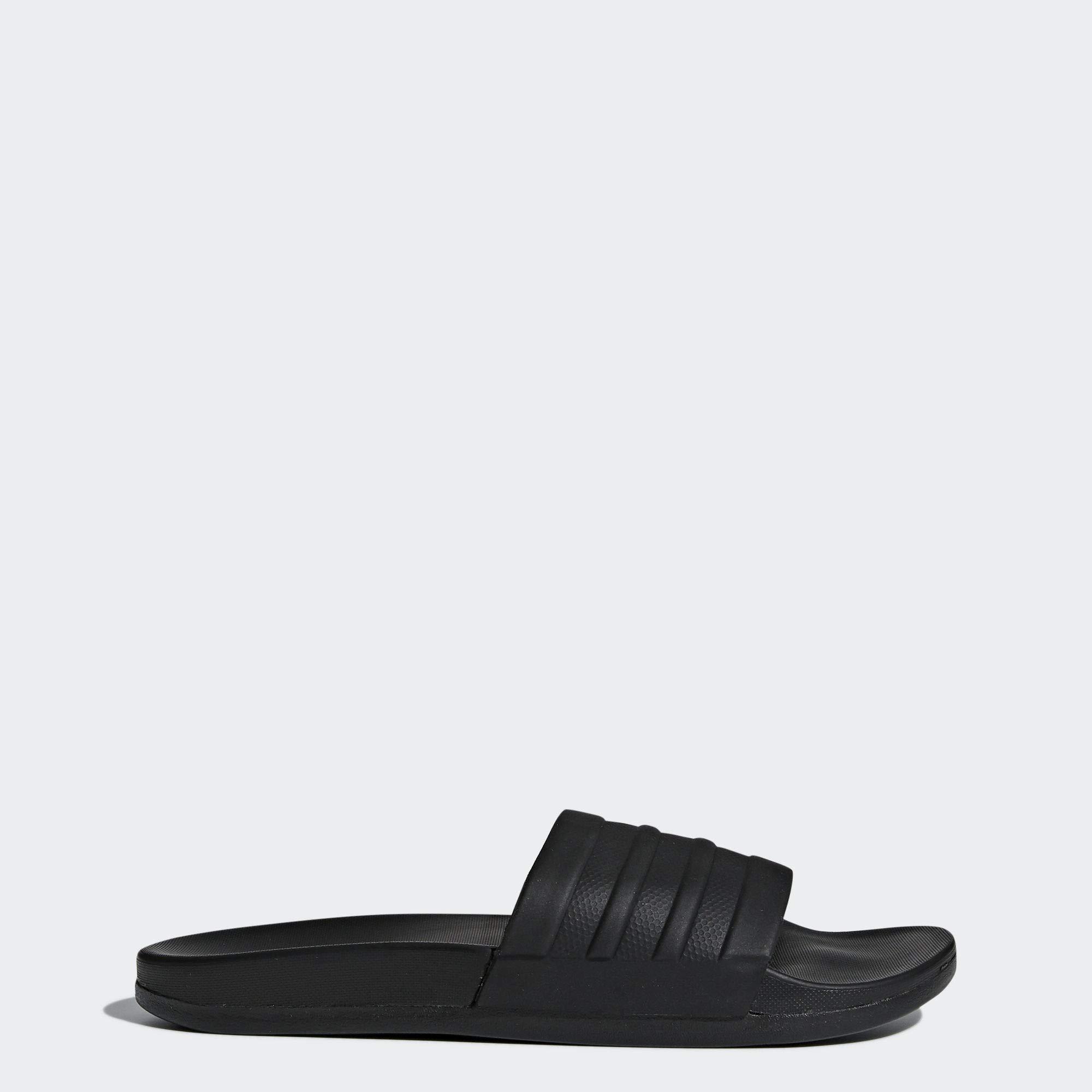 adidas Women's Adilette Comfort Slide Sandal, Black, 7 M US by adidas