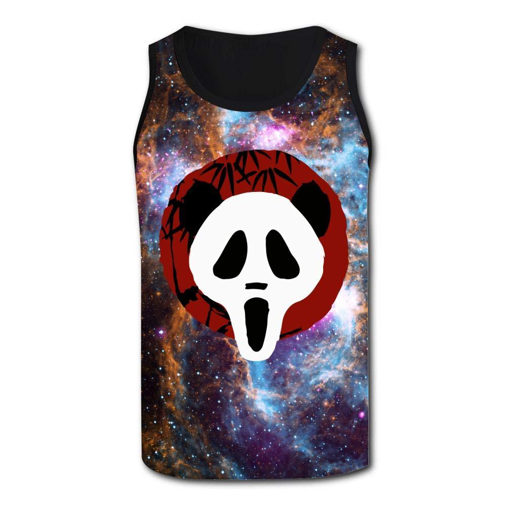 HNkiha Mens 3D Printed Tank Tops Funny Scream Panda Graphic Vest Sleeveless Casual Shirt