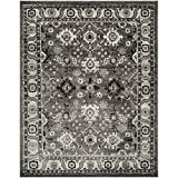 Safavieh Vintage Hamadan Collection VTH214K Grey and Black Area Rug, 8' x 10'