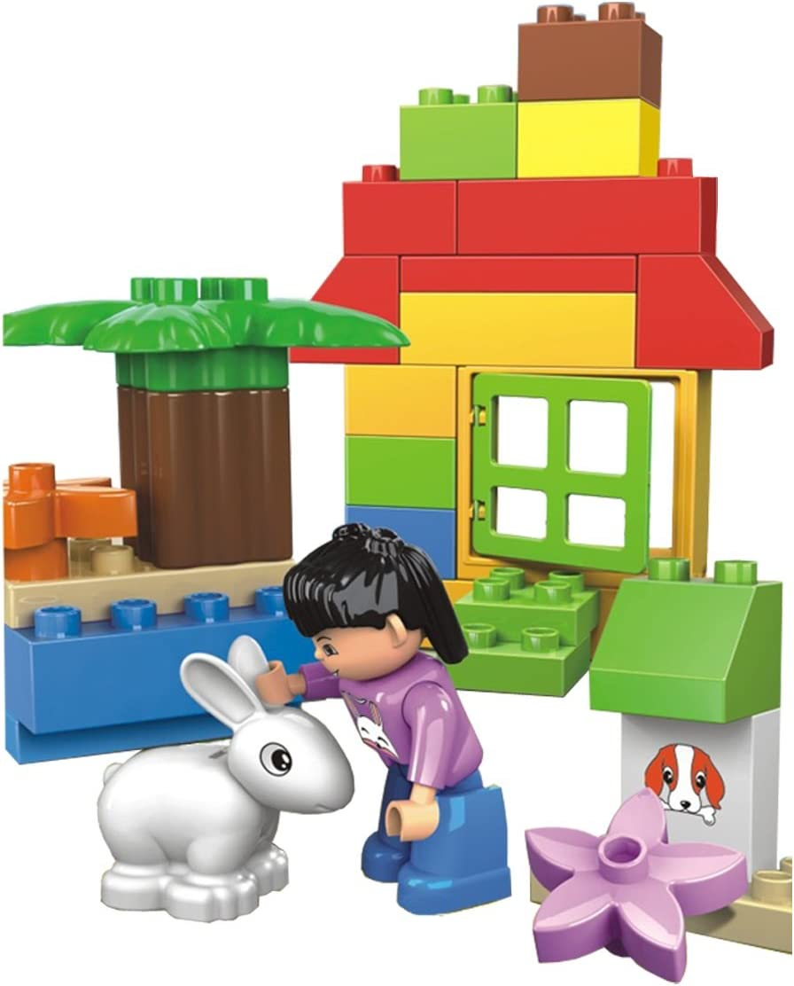 Xpress DIY - 30 pcs Full Building Blocks Zoo-Park Garden Set with a Rabbit, Plants, Tree and Friendly Figure - a Great Tool to Teach a 3+ Kid Learn Loving Nature, Compatible Parts