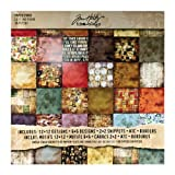 Tim Holtz Idea-ology Lost and Found Paper Stash by, 36 sheets, Double-Sided Card Stock, Various Sizes, Multicolored, TH92825