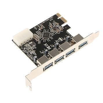 Homyl Tarjeta PCI-E Extender Riser Expansión USB PCI-E a 4 ...