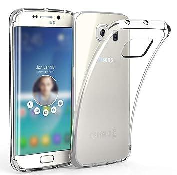 LUCKLYSTAR® Carcasa para Samsung Galaxy S6 Edge Slim Transparente TPU Silicona Funda Anti-Rasguño Anti-Golpes Protective Case para Samsung Galaxy S6 ...