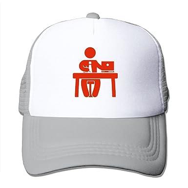 Trucker Mesh Hat Office Baseball Cap Sun Visor Caps Adjustable Hats ... 65501676857
