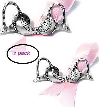 Brotherhood® Products Soporte de cáncer de mama lazo rosa sujetador Pin de solapa paquete de dos: Amazon.es: Deportes y aire libre