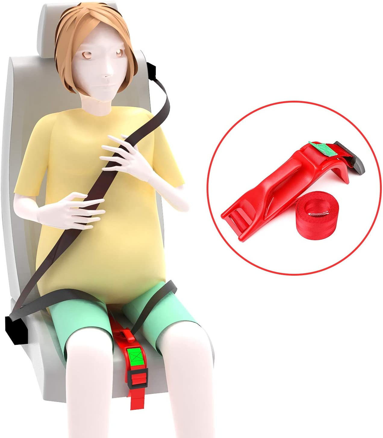 Comfort /& Safety to Protect Unborn Baby Maternity Car Belt Adjuster White Car Pregnant Belt for Expectant Mothers Beyee Pregnancy Seat Belt
