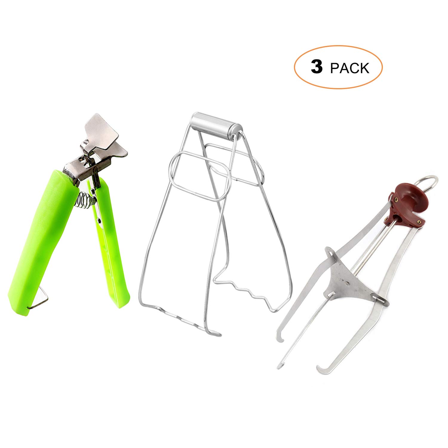 3 Pack Dish Bowl Clip Gripper, Kitchen Stainless Steel Folding Hot Dish Plate Holder, Lifter Gripper, and Three Feet Clip Retrieve Tong from Microwave Oven
