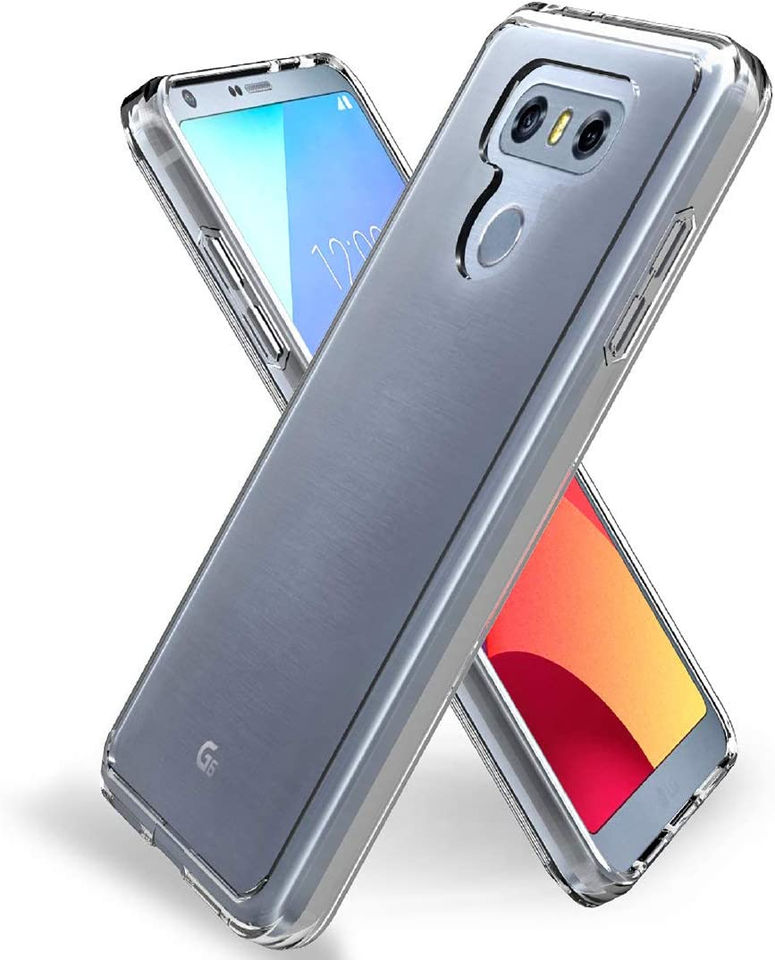 Jeylly Crystal Clear Designed for LG G6 Case, LG G6 Plus Slim Case, Anti-Scratch Shockproof TPU Grip Bumper Slim Fit Thin Protective Cover Cases for LG G6 / LG G6 Plus 2017 - (HD Clear)