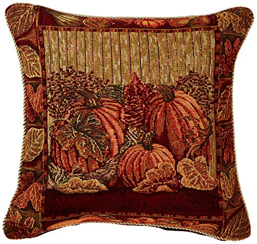 HomeCrate Fall Harvest Collection, Tapestry Pumpkins and Autumn Leaves Design 18