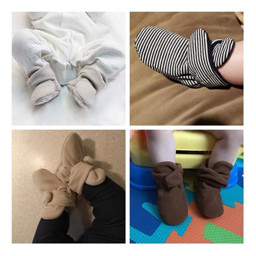 Mybbay Newborn Baby Boy Girl Fleece Cozy Booties Non Skid Infant Slippers Winter Warm Socks Crib Shoes