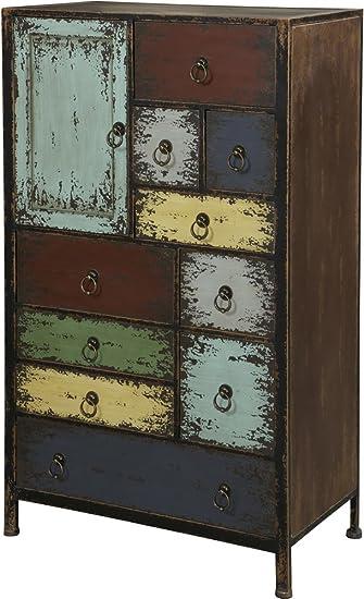 powell furniture parcel 1door 10drawer accent chest cinnamon