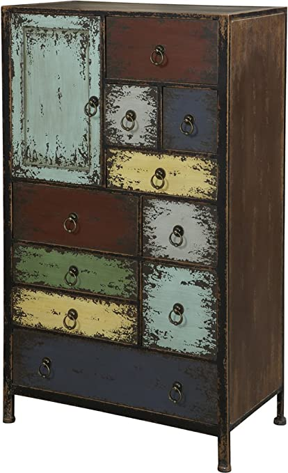 Powell Furniture Parcel 1-Door 10-Drawer Accent Chest Cinnamon & Amazon.com - Powell Furniture Parcel 1-Door 10-Drawer Accent Chest ...