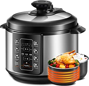 8 in 1 Electric Pressure Cooker Instant Stainless Steel Pot, Slow Cooker, Steamer, Saute, Warmer, Rice Cooker with Deluxe Accessory kits, 5 L