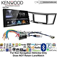 Volunteer Audio Kenwood DMX7704S Double Din Radio Install Kit with Apple CarPlay Android Auto Bluetooth Fits 2013-2014 Honda Civic