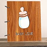 Boxed family baby couple travel album / creative romantic gift / 567 inch a mixed / wood interstitial album album / ( Style : A )