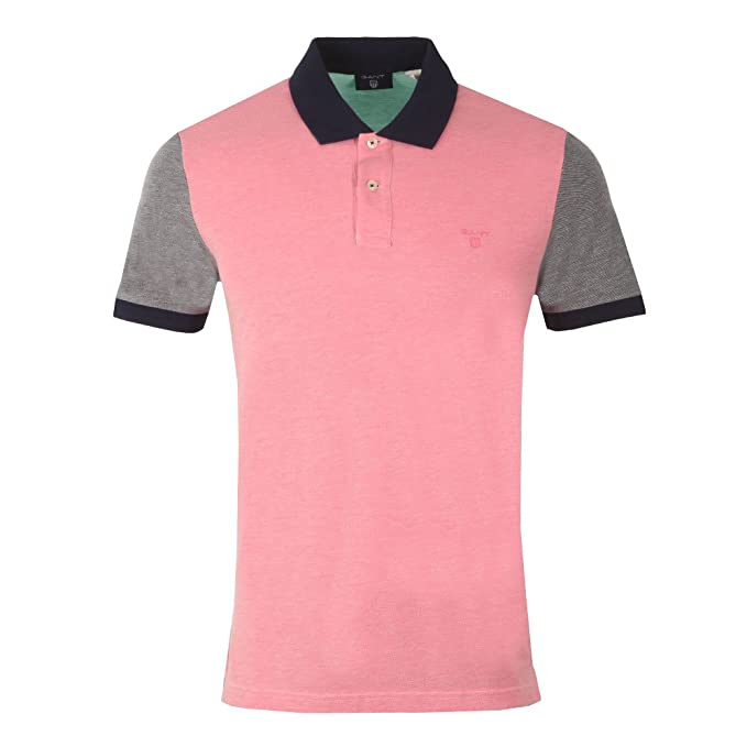 Gant O2. Color Block Oxford SS Rugger-Polo Hombre Magenta XXXL ...
