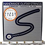 Stringjoy BAL9 Handmade Nickel Wound Electric Guitar Strings, Balanced 9s (Super Light, 9-42)