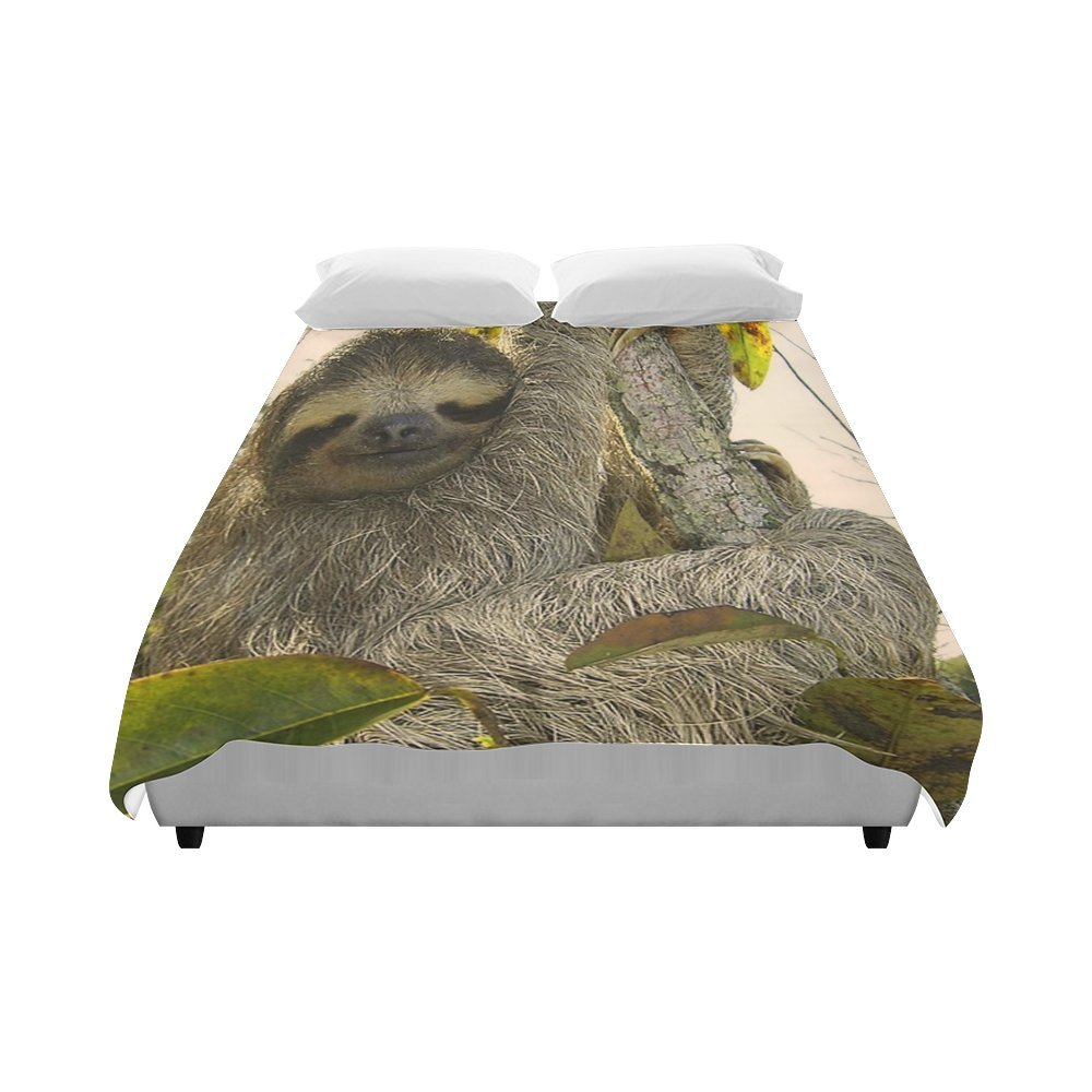 Customize Brushed Fabric Awesome Animal-Sloth Fashion Duvet Cover 86'' x 70''(One Side Printed) ad-1057
