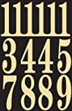 "Hy-Ko MM-5N Self-Stick Numbers, 3"", Black/Gold (2 Pack)"