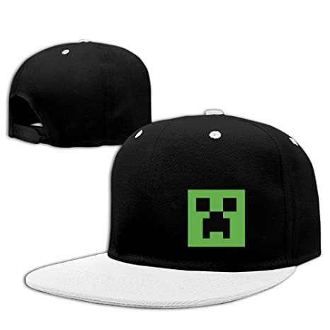 ab822030563 Minecraft Creeper Logo Contrast Color Hip Hop Baseball Caps White (5  Colors)  Amazon.ca  Clothing   Accessories