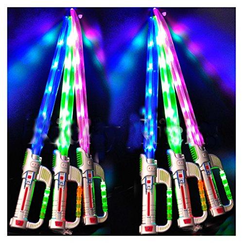 Light-Up Ninja Sword w/ Sound Flashing LED Toy Stick Lightsaber Glow (Glow Stick Figure Costume)