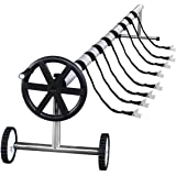 ARKSEN Stainless Steel Solar Cover Reel For Swimming Pools Up To 21' Feet Wide Inground