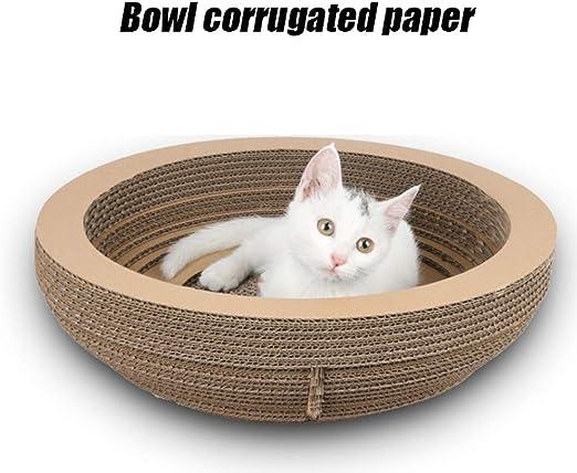 KAISHI Juguetes para Gatos, artículos para Mascotas, tazón de Papel Corrugado para rayar el Gato, rascarse el Gato, Arena para Gatos, Garras de Gato: Amazon.es: Productos para mascotas
