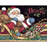 LANG 1004759  - ''Believe Santa'', Boxed Christmas Cards, Artwork by Susan Winget'' - 18 Cards, 19 envelopes - 5.375'' x 6.875''