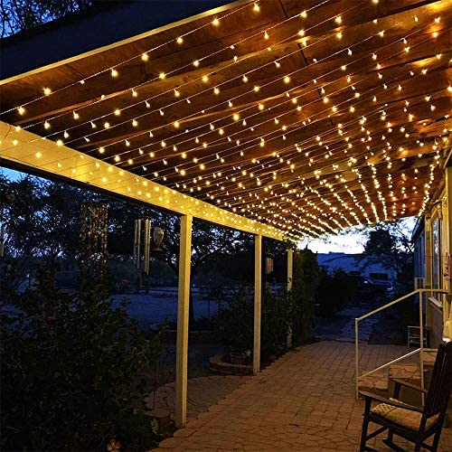 Cortina de Luces LED,Nuevo Cortina Luces LED, 8 Modos de Luces, Resistente al Agua,Cortina Luces LED para Decoración de Ventana (blanco cálido)