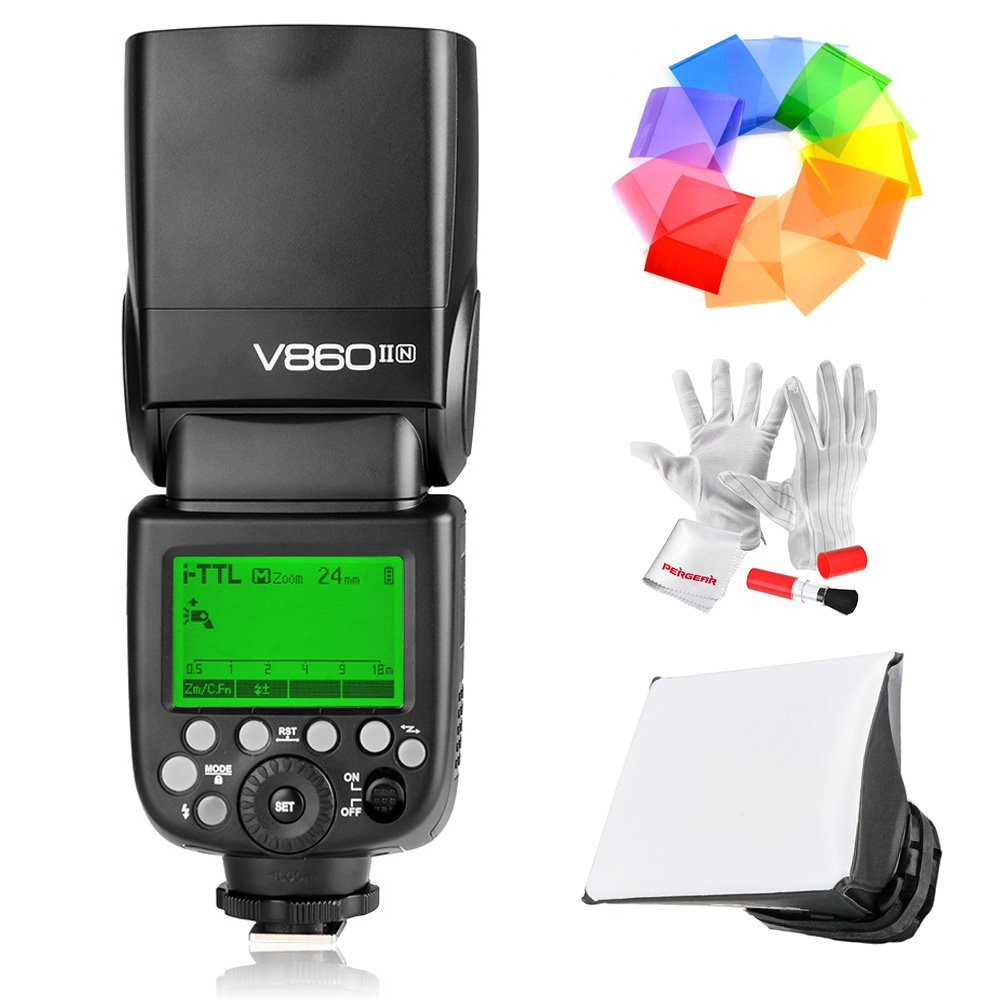 Godox Ving V860IIN 2.4G GN60 I-TTL HSS 1/8000s Li-ion Battery Camera Flash speedlite 1.5S Recycle Time 650 Ful Power Pops Supports TTL/M/Multi/S1/S2 for Nikon DSLR Cameras by Godox