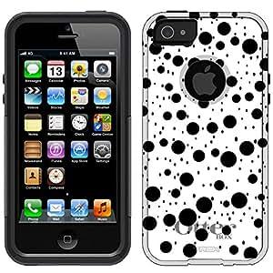 Otterbox Commuter Black Dotd on White Case for iPhone 5